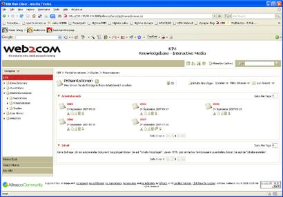 Alfresco KIM web2com