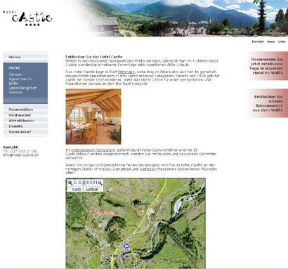 Hotel Castle interaktive Karte