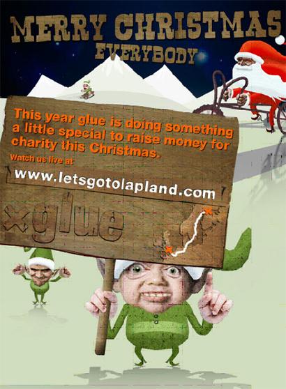 glue London Viral Marketing Weihnachtsaktion Charity