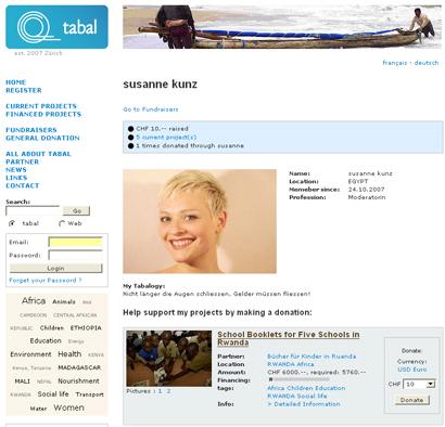 tabal Fundraising Web 2.0 Susanne Kunz