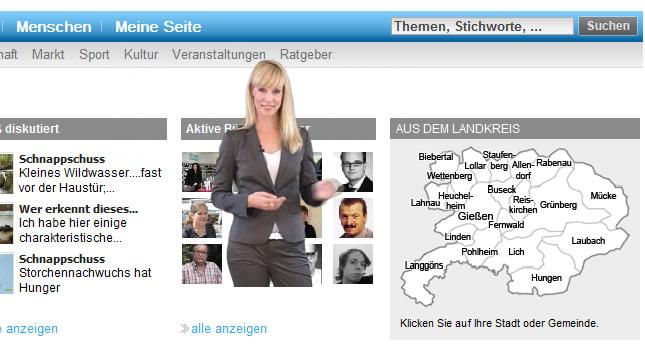 Screenshot Giessener Zeitung