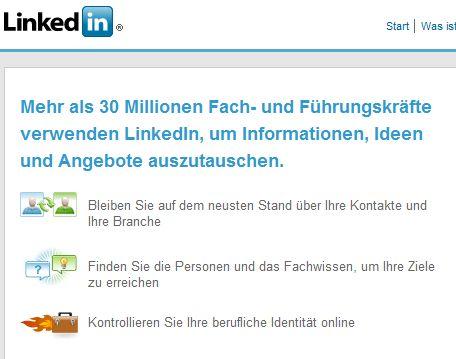 Screenshot Deutsche Einstiegsseite
