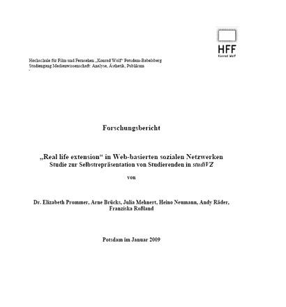 Forschungsbericht Nutzungsmotive Socialnetworks