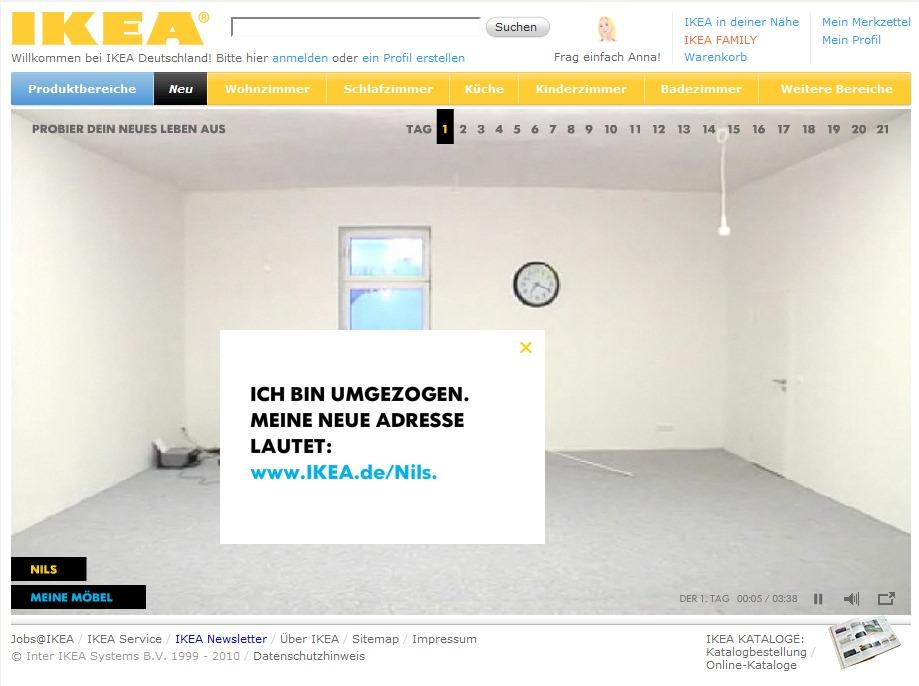 nils zieht in die neue online communiy hej von ikea deutschland ein xeit agentur f r social. Black Bedroom Furniture Sets. Home Design Ideas