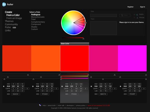 free color tools webdesign applikationen zum farben mischen xeit agentur f r social media. Black Bedroom Furniture Sets. Home Design Ideas
