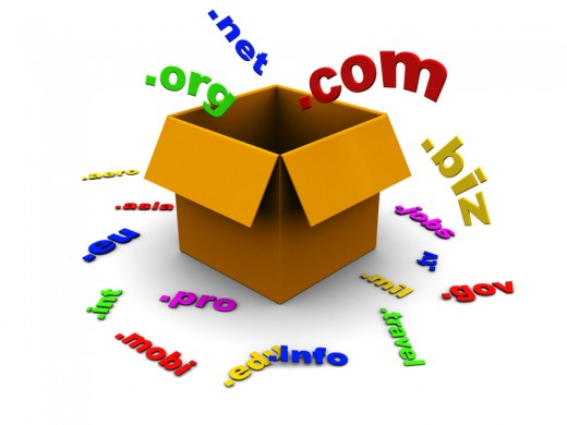 Box mit Domains