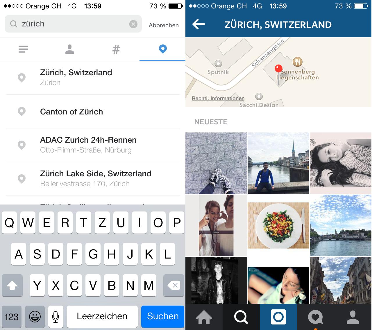 Instagram-Suche