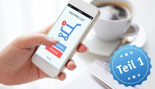 Online-Shopping per Smartphone oder Tablet