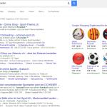 Suchergebnisse Google Shopping Ads