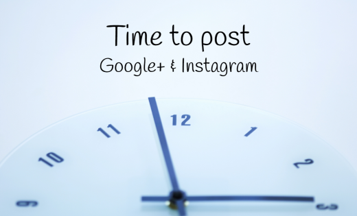 time to post - googleplus - instagram