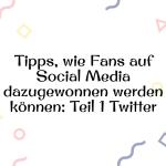 Tipps, wie Fans auf Social Media dazugewonnen werden können-Teil1Twitter