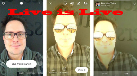 95e64b82ad Instagram hat einen Selfie-Filter für Live Video Streaming